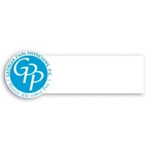 "Laminated Name Badge (1.25""x3.625"") Rectangle w/Round End"