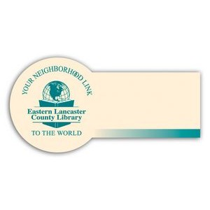"Laminated Name Badge (2""x4"") Rectangle w/Round End"