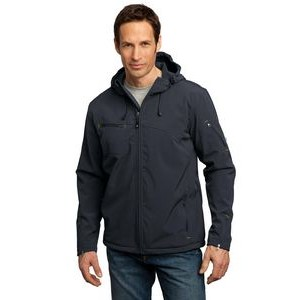 Port Authority® Men's Textured Hooded Soft Shell Jacket