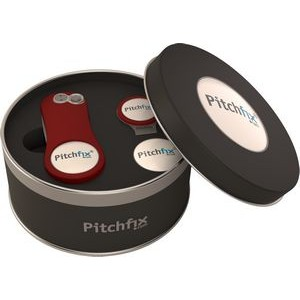 Pitchfix� Original Golf Divot Tool With Round Tin & Hat Clip