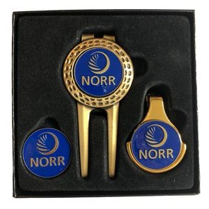 Dimpled Divot Tool Gift Set W/ Money Clip, Marker Caddy™ & Extra Ball Marker
