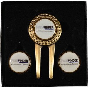 Dimpled Divot Tool Gift Set W/ 2 Extra Ball Markers