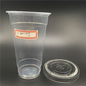 20 Oz Disposable Plastic Water Cup With Rolled Edge And 1-4 Colors Imprint Without Lid