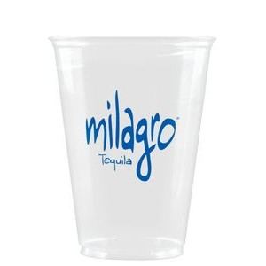 10 oz Soft Sided Clear Plastic Cup - Hi-Speed