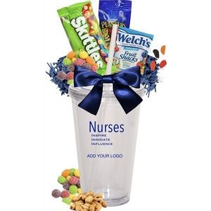 Nurse's Appreciation Candy & Snack Gift Cups (Clear)