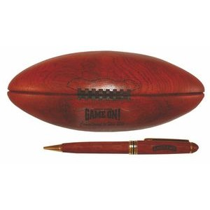 Sports Series Ballpoint Pen in Rosewood Football Case
