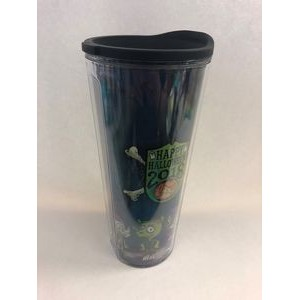 24oz Double Wall Insulated Tumbler w/Lid