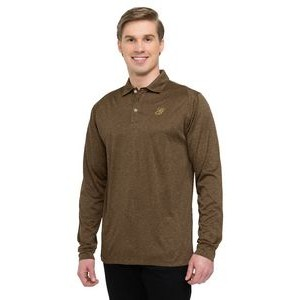 Men's Tri-Mountain Gold� Gallant Heather Long Sleeve Jersey Polo