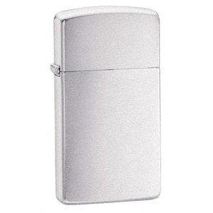 Zippo® Slimline Brushed Chrome Lighter