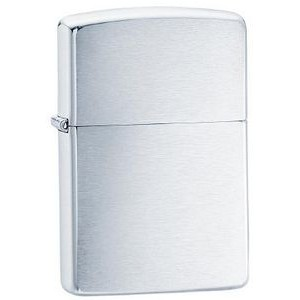 Zippo® Brushed Chrome Lighter