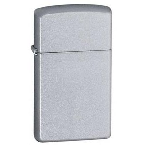 Zippo® Slimline Satin Chrome Lighter