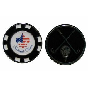 "1 1/2"" Diameter Custom Ball Marker/ Poker Chip"