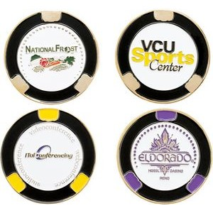 "1 1/2"" Diameter Custom Ball Marker Poker Chip"