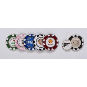 Metal Poker Chip w/Removable Ball Marker