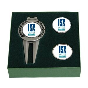 "Tournament Gift Set - Divot / Hat Clip / 1"" Marker"