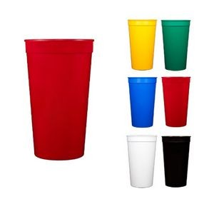 Tall Smooth Walled Plastic Stadium Cup - 16 Oz