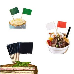 "Custom Food Flag Toothpick With 2 14/25"" Stick"