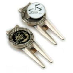 Golf Divot Repair Tools w/Removable Ball Marker