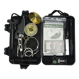 12-in-1 Outdoor Survival Kit Set