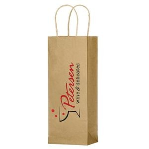 Natural Kraft Paper Wine Tote - 1 Bottle