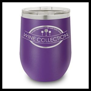 12 Oz. Purple Stainless Steel Stemless Wine Cup