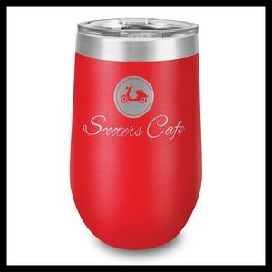 16 Oz. Red Stainless Steel Stemless Wine Cup