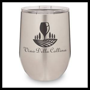 12 Oz. Stainless Steel Stemless Wine Cup