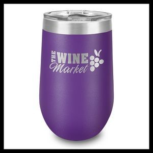 16 Oz. Purple Stainless Steel Stemless Wine Cup