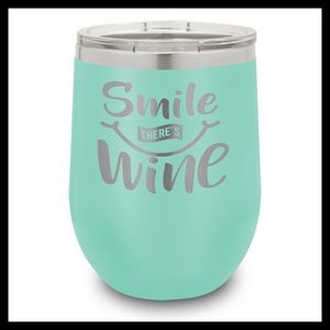 12 Oz. Teal Stainless Steel Stemless Wine Cup