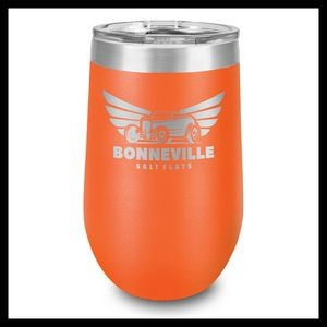 16 Oz. Orange Stainless Steel Stemless Wine Cup