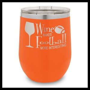 12 Oz. Orange Stainless Steel Stemless Wine Cup