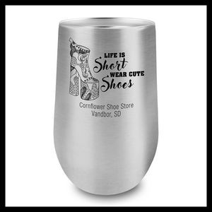 16 Oz. Stainless Steel Stemless Wine Cup