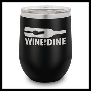 12 Oz. Black Stainless Steel Stemless Wine Cup