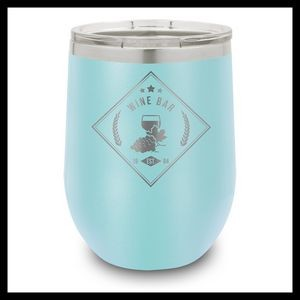 12 Oz. Light Blue Stainless Steel Stemless Wine Cup