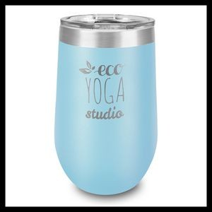 16 Oz. Light Blue Stainless Steel Stemless Wine Cup