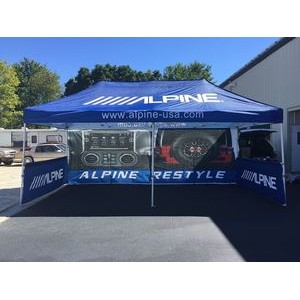 10x20 Custom Printed Pop Up Canopy Tent