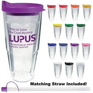 24 Oz. Double Wall Thermal Travel Tumbler - Screen Printing
