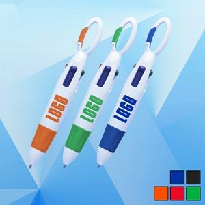 4 Color Carabiner Ballpoint Pen