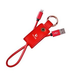 PU Keychain Charger Cable