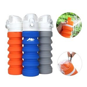17oz Silicone Collapsible Water Bottle