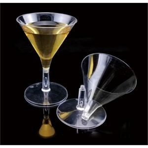 2 oz. Plastic Mini Martini Glass