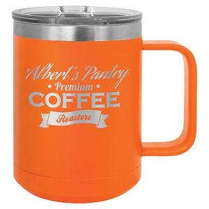 15 oz. Orange Polar Camel Vacuum Insulated Mug with Slider Lid