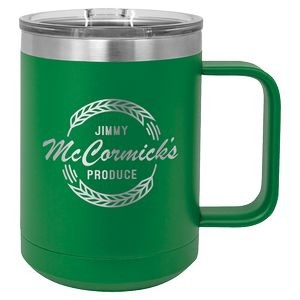 15 oz. Green Polar Camel Vacuum Insulated Mug with Slider Lid