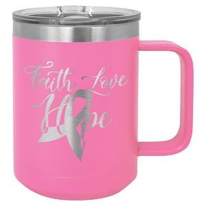 15 oz. Pink Polar Camel Vacuum Insulated Mug with Slider Lid