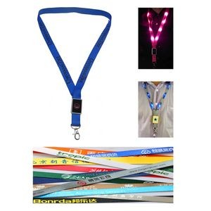 LED Flashing Nylon Lanyard