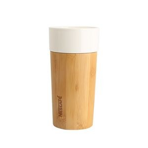 Travel Coffee Mug Wrapped with Bamboo
