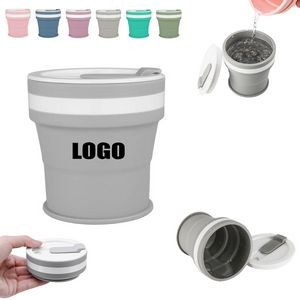 350ml Silicone Collapsible Cup With Slide Lid