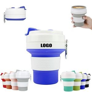 350ml Silicone Collapsible Cup With Carabiner