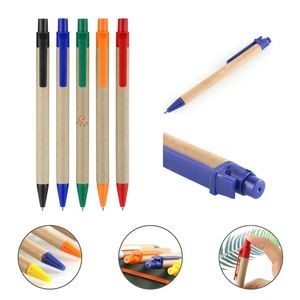 Simple and light Plastic Carton Ballpoint Pen