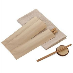 Bamboo Chopsticks In Paper Sleeve